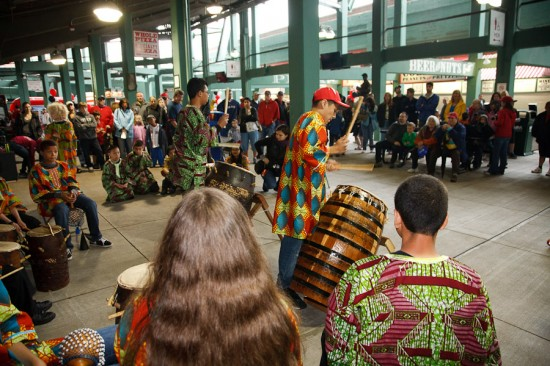 ZUMIX African Drumming Ensemble performs at Fenway Park