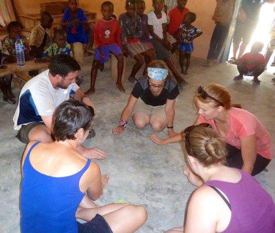 Children's rock passing game Africa
