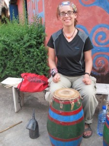 Chicago music teacher Heidi Farrand in Africa