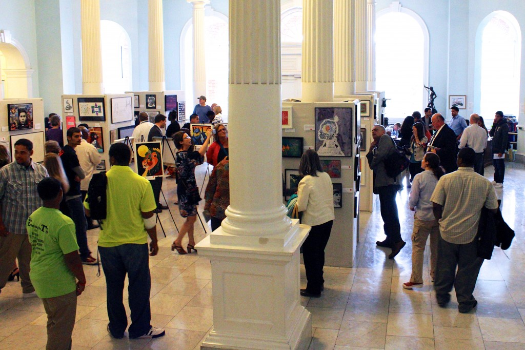 Hip-hop drumming performance at Massachusetts State House