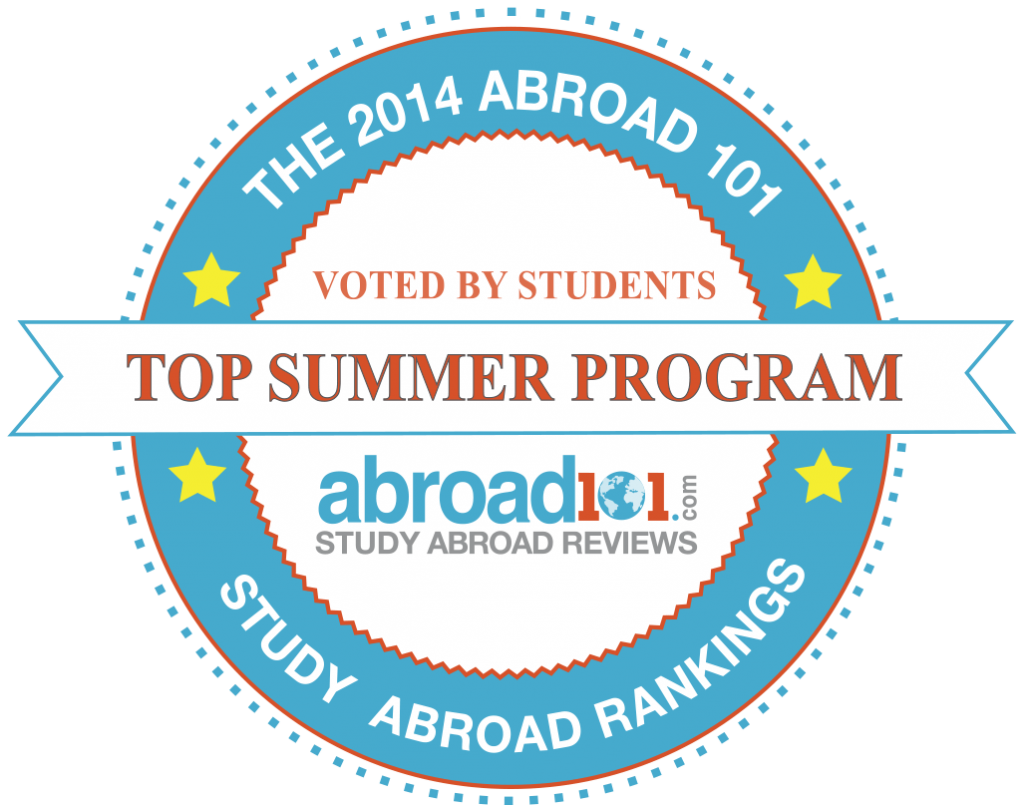 Abroad101 award badge