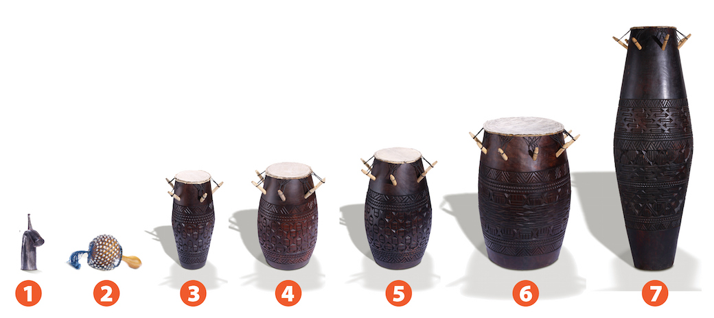 Ewe drums from Ghana