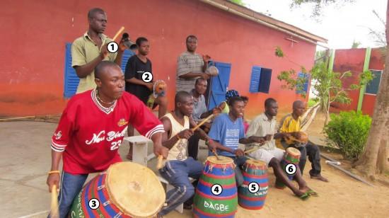 Gahu drumming in Kopeyia, Ghana
